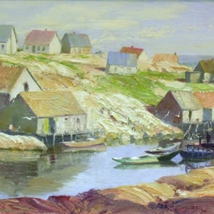 Sunday Morning, Peggy's Cove - SOLD