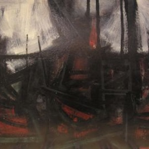 """Composition in Black, Red and White"" 1961"