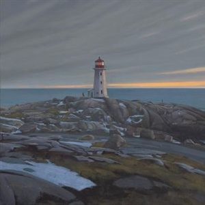 """Peggy's Cove, End of Winter"""