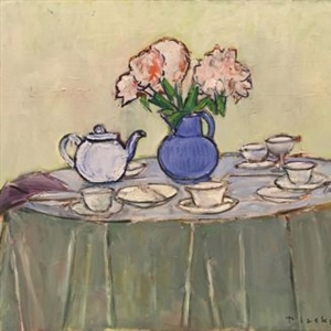 Tablescape No.1 (Tea on Round Table) (2011)