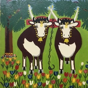 """Two Oxen in Spring"""