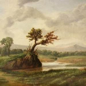 Landscape with Pond and Hills