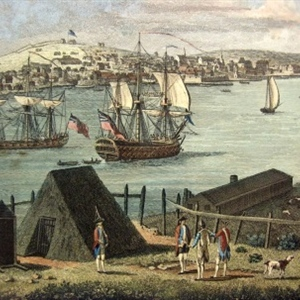 Town and Harbour of Halifax (Detail)
