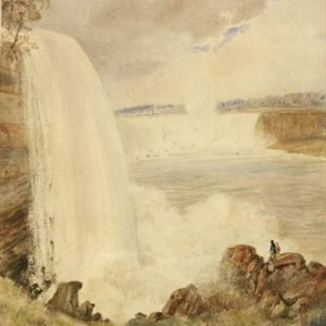 """Distant View of the Great Falls of Niagara"" c.1830"