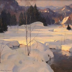"""Winter Evening near St. Adele"""